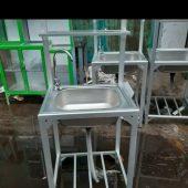 Wastafel portable Aluminium cuci tangan Surabaya
