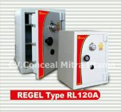 Brankas tahan bongkar REGEL RL 120A tinggi 120 cm, 1 meter 20 cm