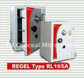 Brankas tahan REGEL tipe RL 165A tinggi 165 cm, 1 meter 65 cm